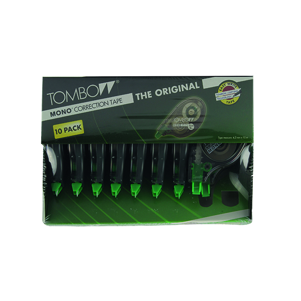 Correction Tape Tombow Mono Correction Roller (10 Pack) CT-YT4-10
