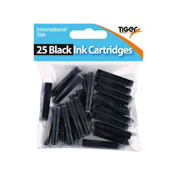 Tiger Black Ink Cartridges, (300 Pack) 301105