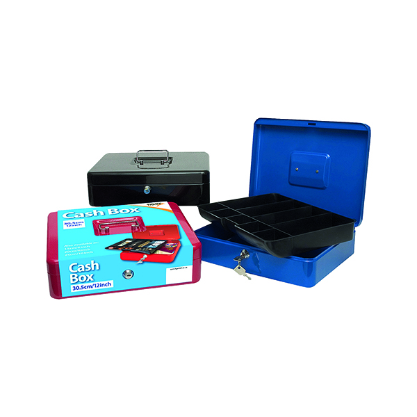 Cash Box 12 Inch Assorted (6 Pack) 301172