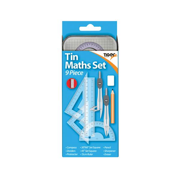 9 Piece Maths Set Tin (12 Pack) 301467