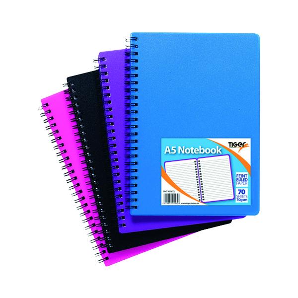 Sundry A5 Wiro Polypropylene Notebook (5 Pack) 301472