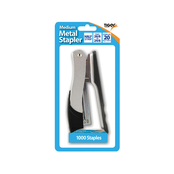 Tiger Medium Metal 26/6 Stapler PLUS 1000 staples (6 Pack) 301510