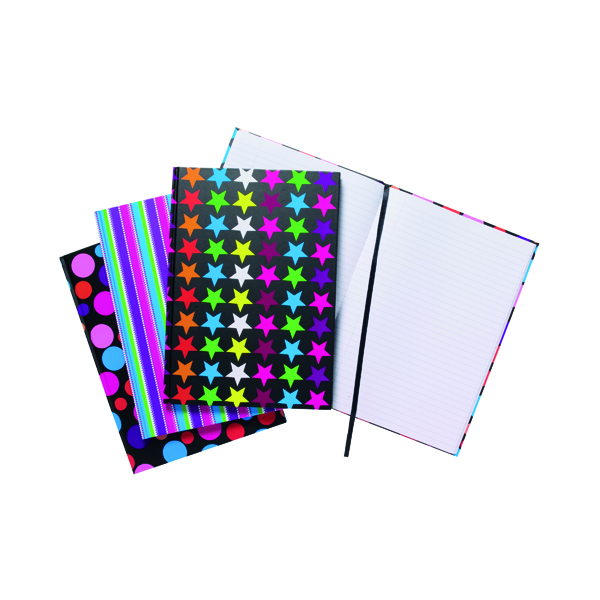 Index Tiger Assorted Fashion Notebook A4 (5 Pack) 301650