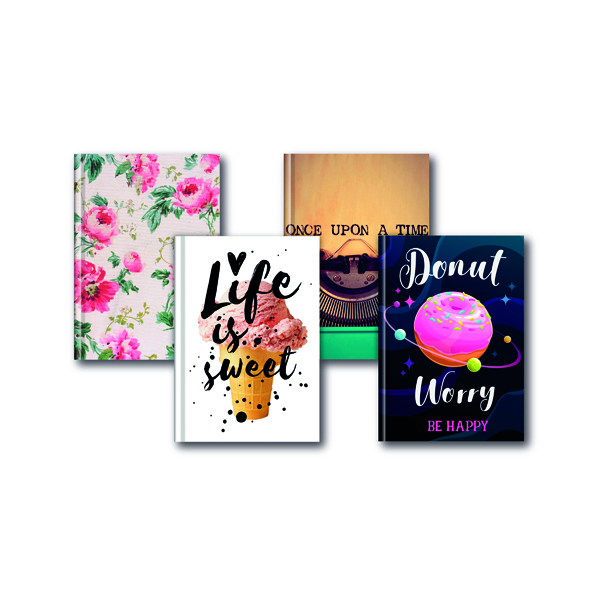 Index A5 Fashion Assorted Feint Ruled Casebound Notebooks (5 Pack) 301651