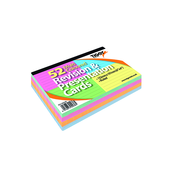 Revision and Presentation Cards 54 Multicolour (10 Pack) 302236