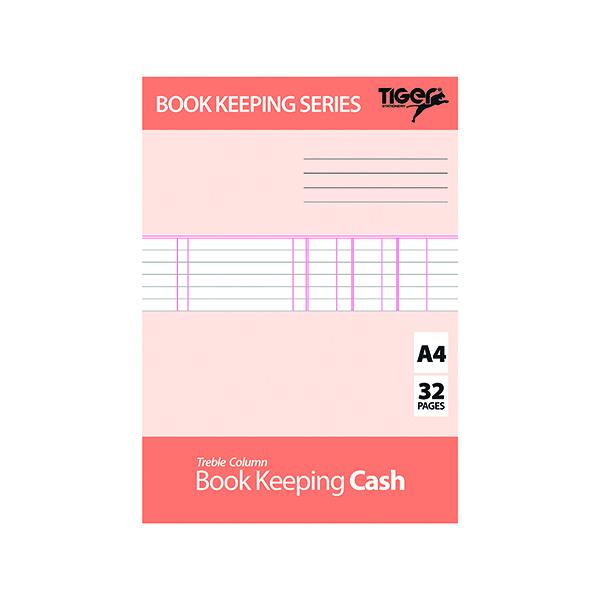 Book Keeping Cash Book A4 (6 Pack) 302299