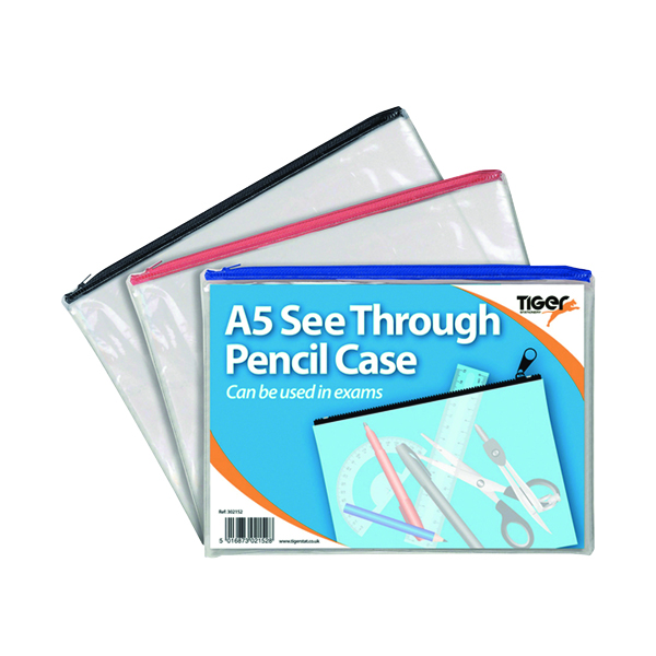 Unspecified See Through Pencil Case 245 x 160mm (12 Pack) 302152