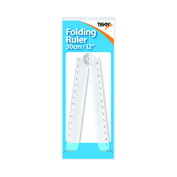 Unspecified Tiger 30cm Folding Ruler/Protractor (25 Pack) 301768