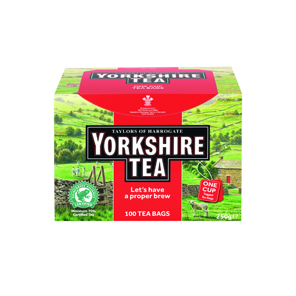 Yorkshire Tea String and Tag Tea Bags (100 Pack) 1342