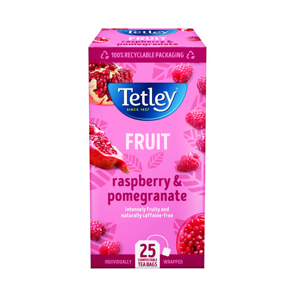 Tetley Raspberry and Pomegranate Tea Bags (25 Pack) 1580A
