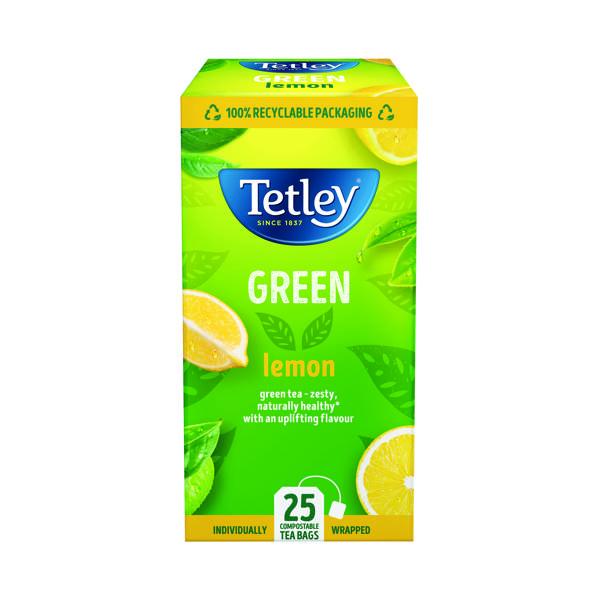 Tea Tetley Green Tea With Lemon Tea Bags (25 Pack) 1571A