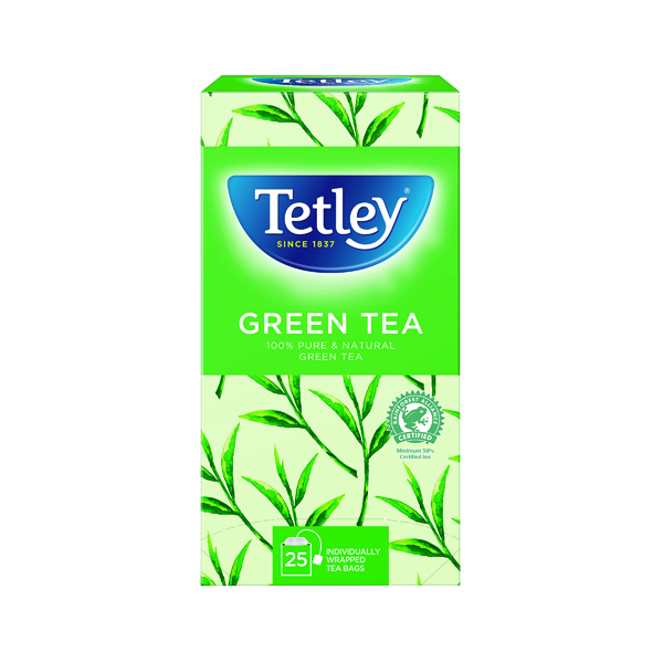 Tetley Pure Green Tea Bags (25 Pack) 1575A