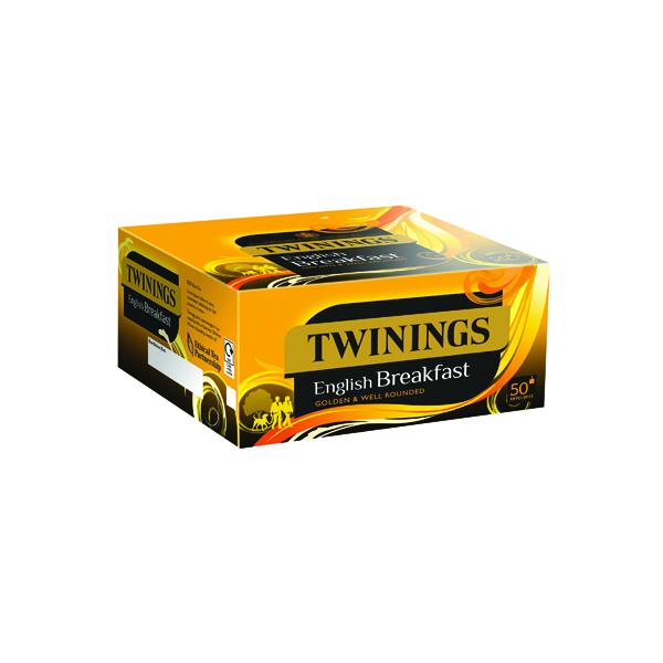 Twinings English Breakfast Envelope Tea Bags (50 Pack) x6 F09583