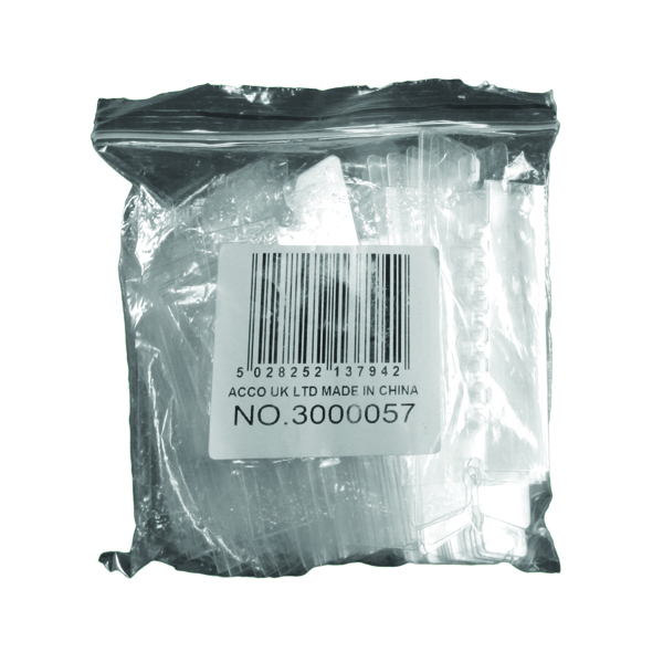Rexel Crystalfile Flexi Index Divider Tabs Clear (50 Pack) 3000057