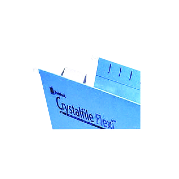 Rexel Crystalfile Flexi Tab Inserts White (50 Pack) 3000058