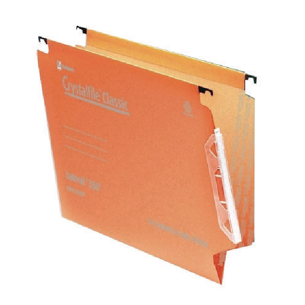 Lateral File Rexel Crystalfile Classic 15mm Lateral File 150 Sheet Orange (50 Pack) 70671