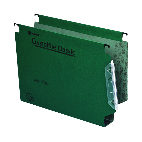 Lateral File Rexel Crystalfile Classic 30mm Lateral File 500 Sheet Green (25 Pack) 70672