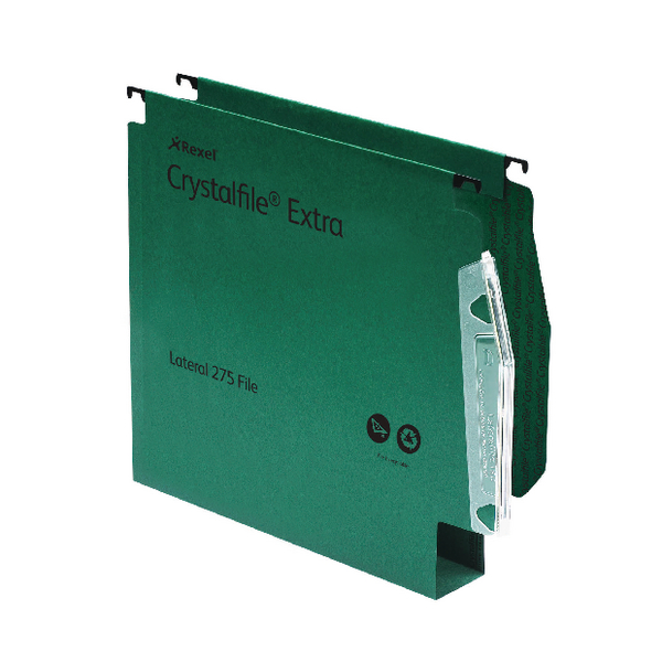 Lateral File Rexel Crystalfile Classic 50mm Lateral File Manilla 500 Sheet Green (50 Pack) 71762