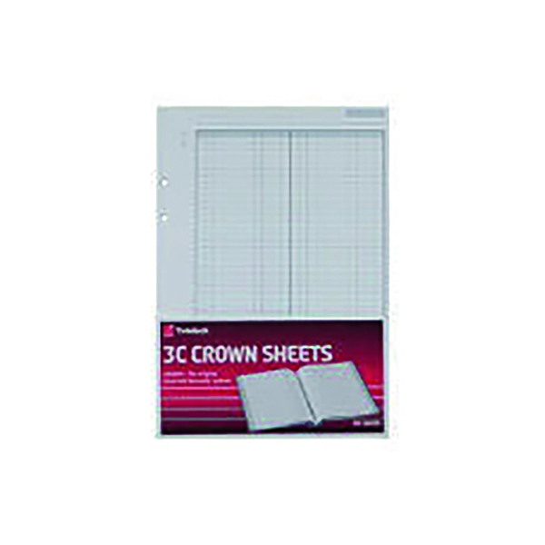 Rexel Crown 3C F1 Double Ledger Refill Sheets (100 Pack) 75841