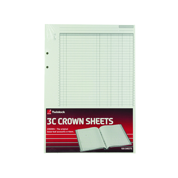 Analysis Paper Rexel Crown 3C F9 Treble Cash Refill Sheets (100 Pack) 75849