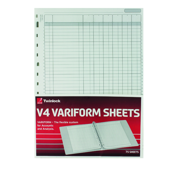 Analysis Paper Rexel Variform V4 6-Column Cash Refill (75 Pack) 75932
