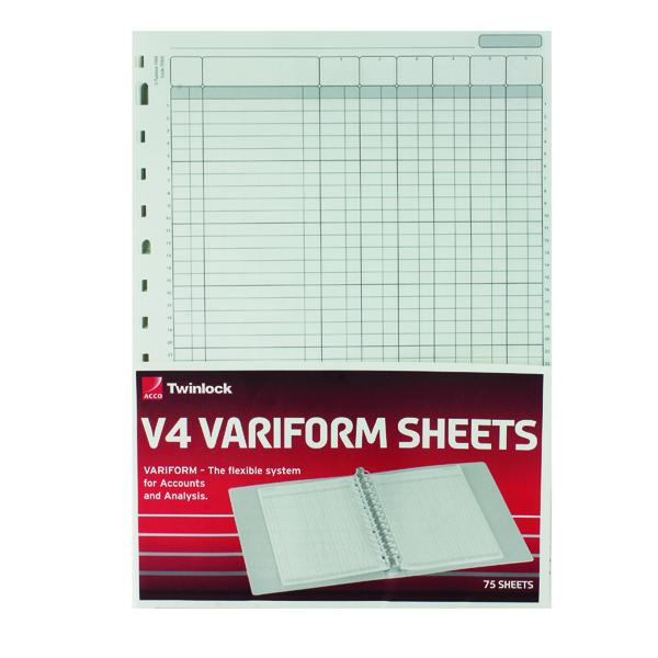Rexel Variform V4 6-Column Cash Refill (75 Pack) 75932