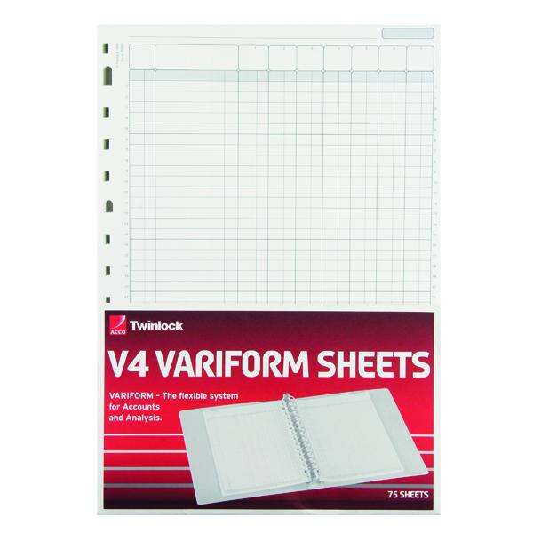 Rexel Variform V4 7-Column Cash Refill (75 Pack) 75933