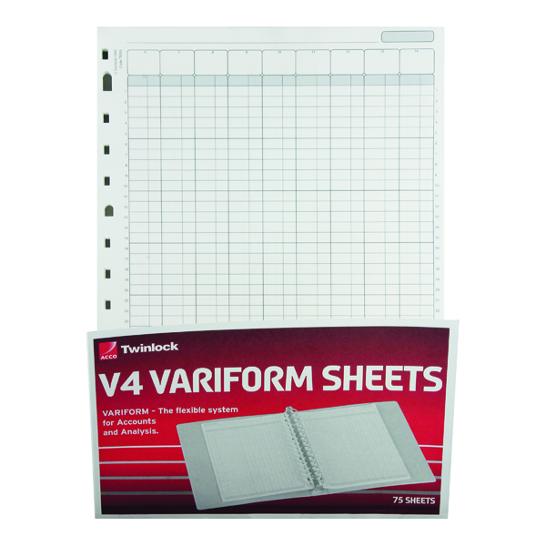 Analysis Paper Rexel Variform V4 14-Column Cash Refill (75 Pack) 75934