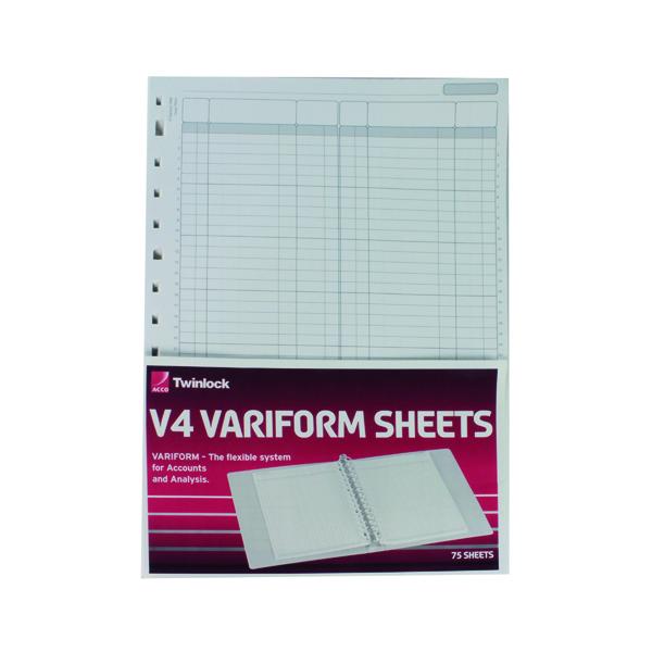 Rexel Variform V4 F1 Double Ledger Refill (75 Pack) 75951