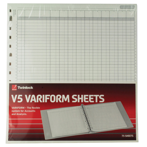 Analysis Paper Rexel Variform V5 10-Column Cash Refill (75 Pack) 75964