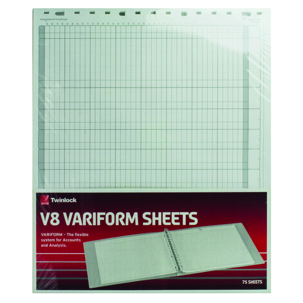 Analysis Paper Rexel Variform V8 10-Column Cash Refill (75 Pack) 75982