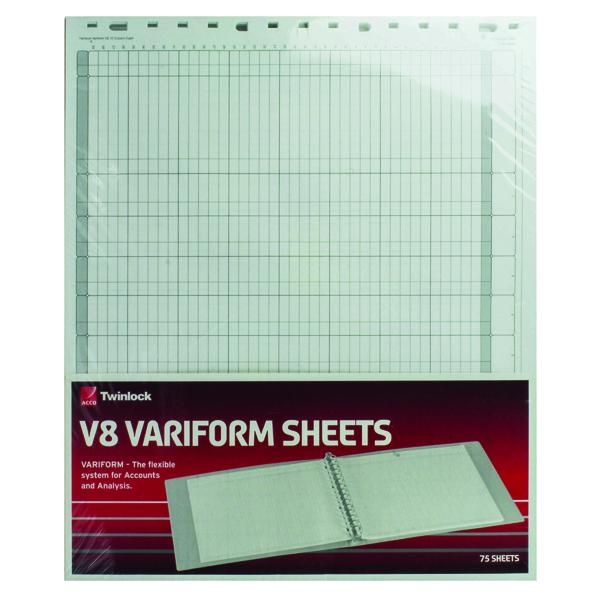 Rexel Variform V8 10-Column Cash Refill (75 Pack) 75982