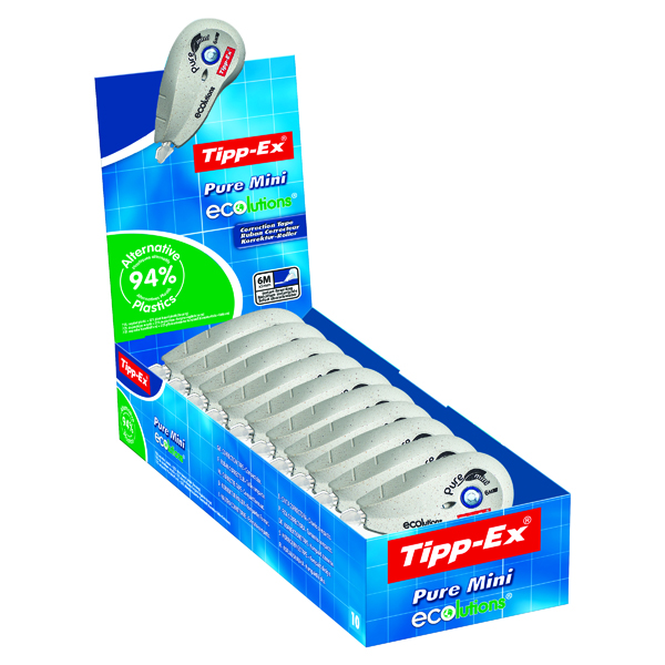 Tipp-Ex Pure Mini Ecolutions Correction Roller (10 Pack) 918467