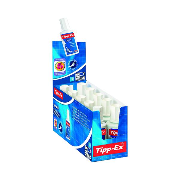 Correction Fluid Tipp-Ex Rapid Correction Fluid 20ml (10 Pack) 885992