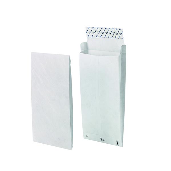 Tyvek B4 Envelope 353x250x38mm Gusset Peel and Seal White (100 Pack) 11843