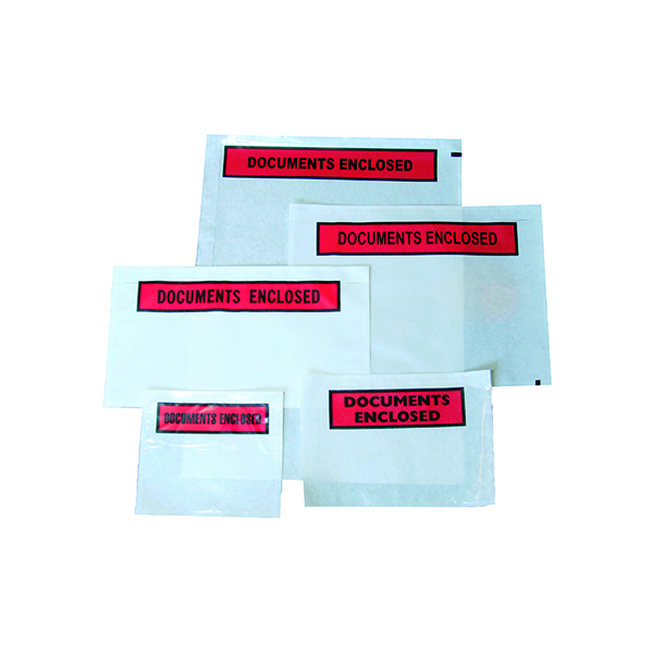Document Enclosed Wallets GoSecure Document Envelopes Plain Self Adhesive A7 (1000 Pack) 4301001