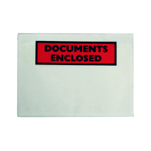 GoSecure Document Envelopes Documents Enclosed Self Adhesive A6 (100 Pack) 9743DEE02