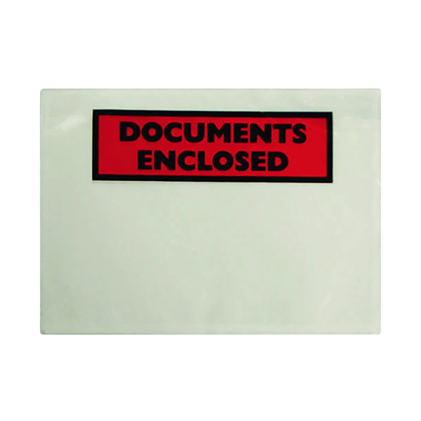 GoSecure Document Envelopes Documents Enclosed Self Adhesive A7 (100 Pack) 9743DEE01