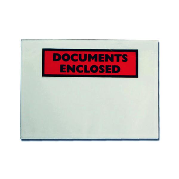 GoSecure Document Envelopes Documents Enclosed Self Adhesive DL (100 Pack) 9743DLDE01