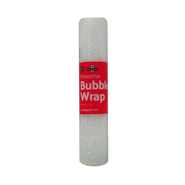 Bubble Wrap Post Office Postpak Clear Bubble Wrap 500mmx3m (12 Pack) 37749