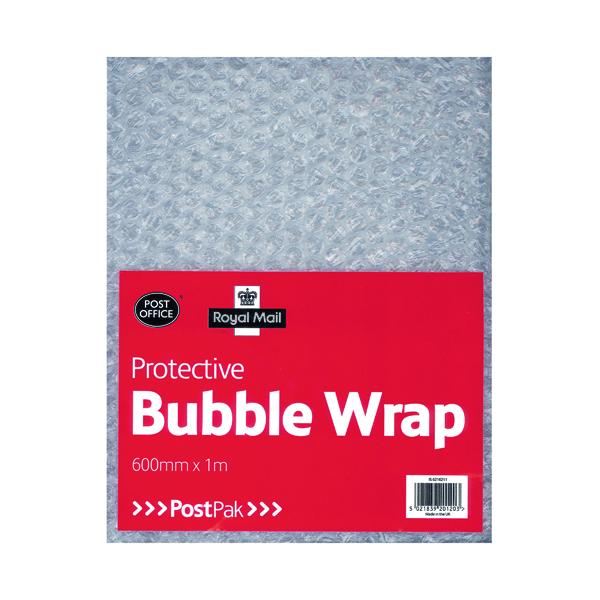 Bubble Wrap Postpak Protective Bubble Wrap Flat Sheet 600mm x 1m (6 Pack) 37728