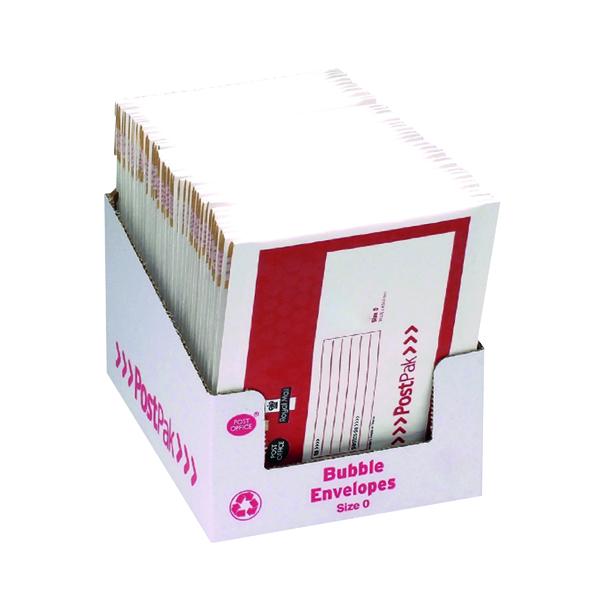 Bubble Post Office Postpak Size 0 Bubble Envelopes (40 Pack) 41629