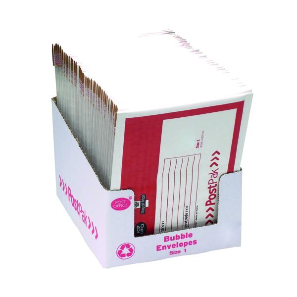 Bubble Post Office Postpak Size 1 Bubble Envelopes (40 Pack) 41630
