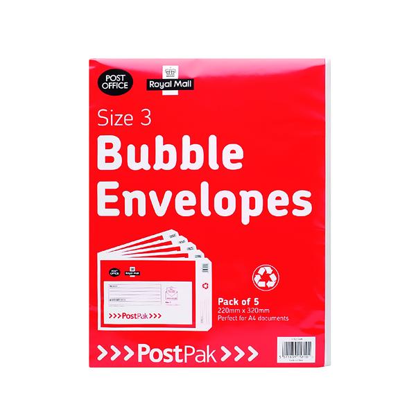 Bubble Post Office Postpak Size 3 Bubble Envelopes (40 Pack) 41631