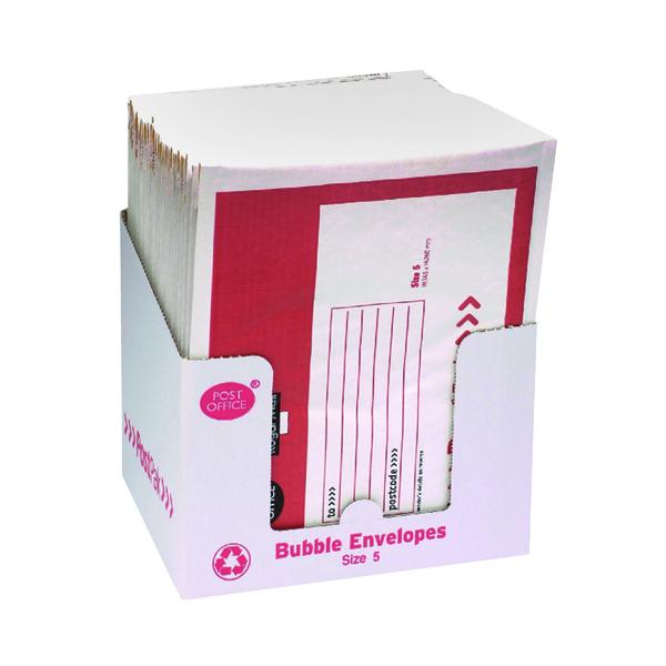 Bubble Post Office Postpak Size 5 Bubble Envelopes (40 Pack) 41640