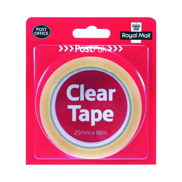 PostPak Clear Sticky Tape 19mm (24 Pack) 502183935910