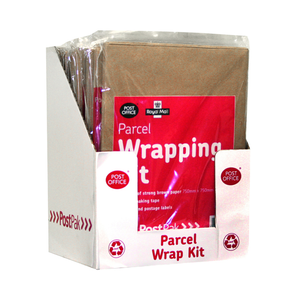 Paper Roll Post Office Brown Post Pack Wrap Kit (10 Pack) 39124016