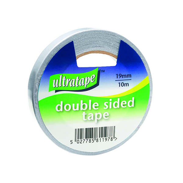 Clear Tape Double Sided Tape 19mmx10m 1 Roll Ultra Clear (12 Pack) DS01031910UL