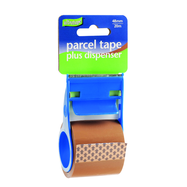 Packing Tape Parcel Tape and Dispenser 48mmx20m Buff (12 Pack) RT0808-48X20