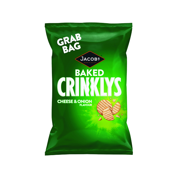 Breakfast/Snacks Jacobs Crinklys Cheese and Onion Grab Bag (30 Pack) 27812